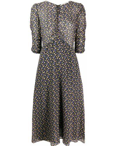 Платье миди с цветочным принтом с V-образным вырезом Masscob