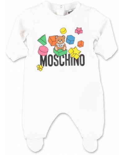 Biały kombinezon bawełniany Moschino