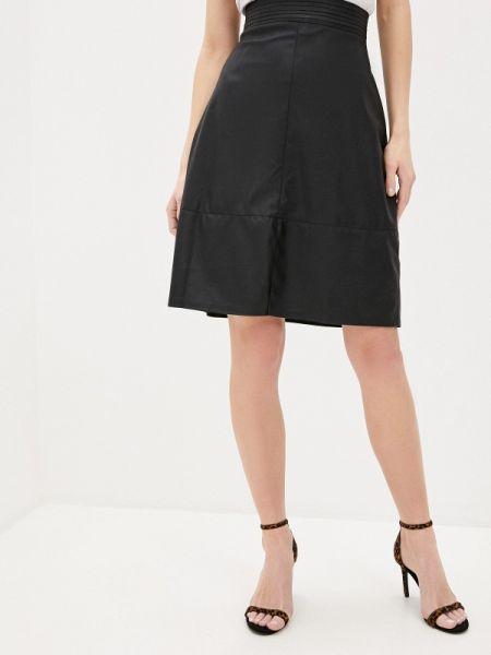 Черное кожаное платье Toryz
