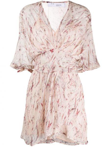 Розовое приталенное платье на молнии Iro