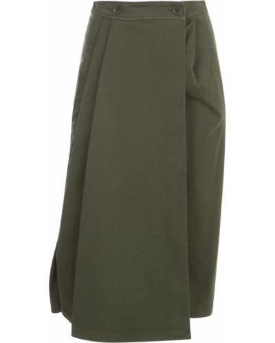 Zielona spódnica plisowana Aspesi