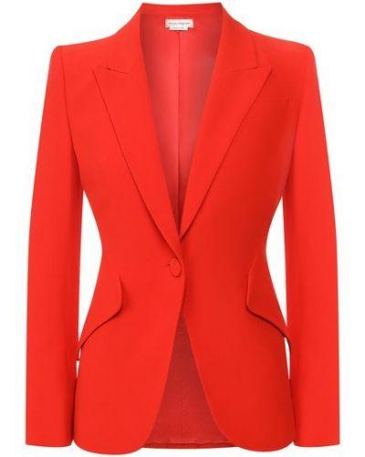 Красный пиджак с подкладкой из вискозы Alexander Mcqueen