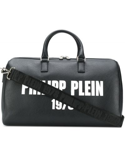 Bawełna biały z paskiem torba na ramieniu z prawdziwej skóry Philipp Plein