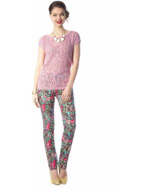Летние брюки зауженные в цветочный принт Wisell