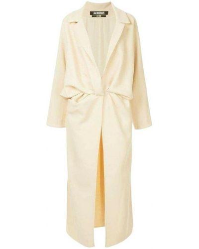 Długi płaszcz - biały Jacquemus