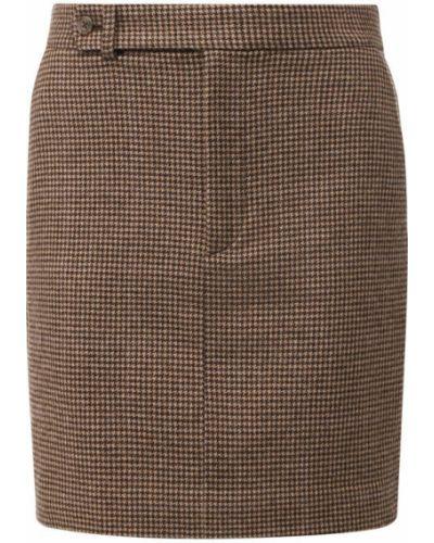 Юбка мини шерстяная с принтом Polo Ralph Lauren