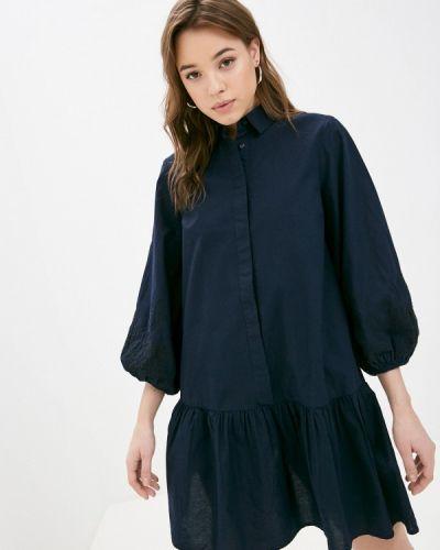 Синее платье а-силуэта Y.a.s