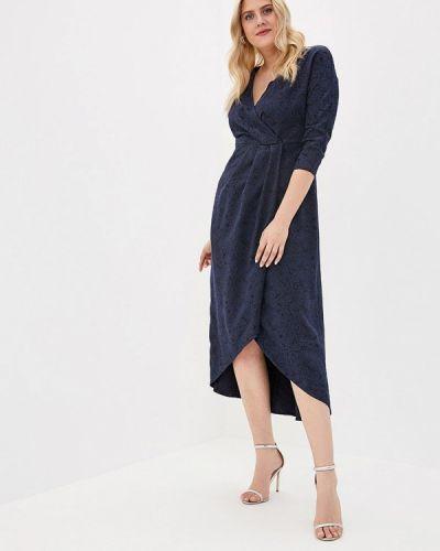Платье с запахом синее Irina Vladi