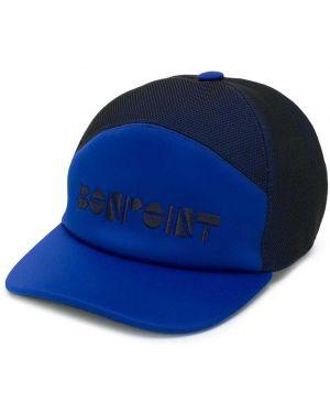 Niebieska czapka z haftem Bonpoint