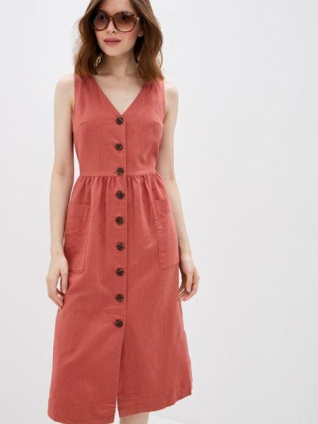 Платье прямое красный Gap