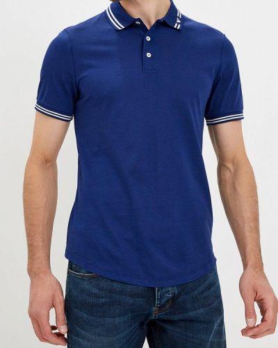 Синее поло с коротким рукавом Emporio Armani