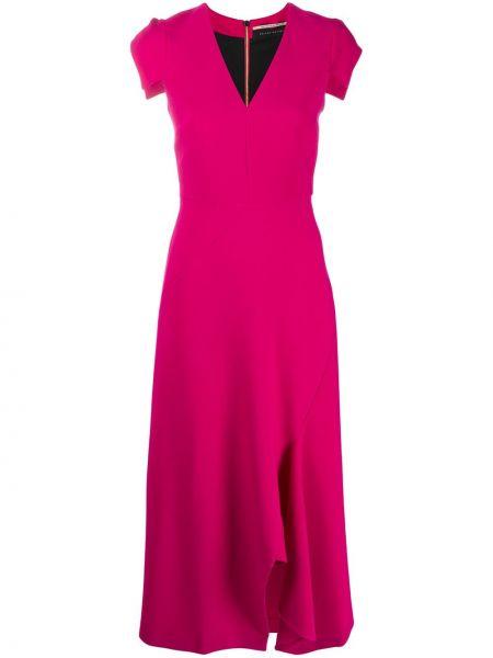 Платье миди с V-образным вырезом прямое Roland Mouret