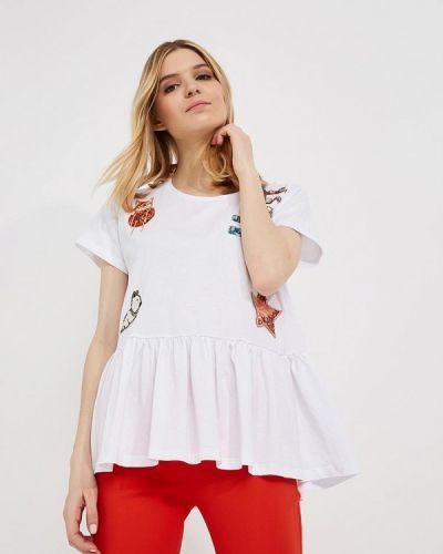 Белая футболка Elisabetta Franchi