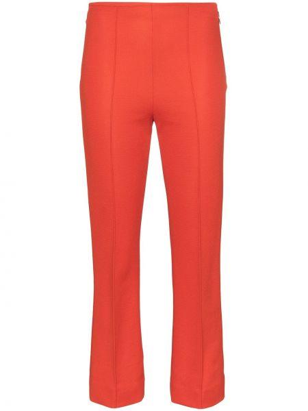 Красные расклешенные укороченные брюки с поясом Rudi Gernreich