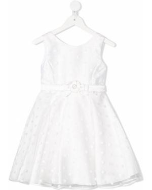 Платье с рукавами из фатина в горошек Abel & Lula