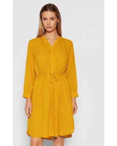 Sukienka - żółta Selected Femme