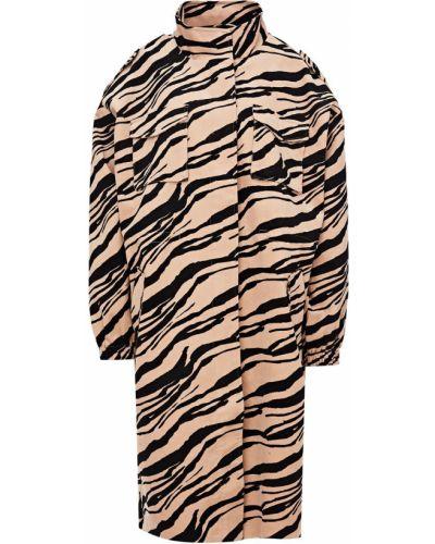 Бежевое пальто вельветовое Ichi