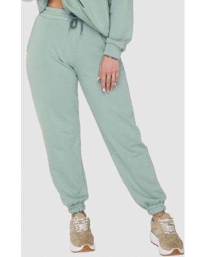 Зеленые трикотажные спортивные брюки Rozetka