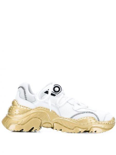 Skórzane sneakersy białe N°21
