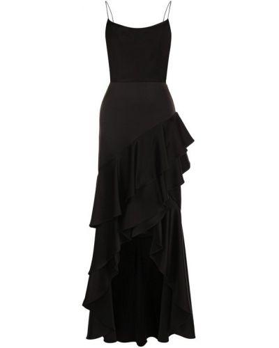 Платье макси с оборками однотонное Alice + Olivia