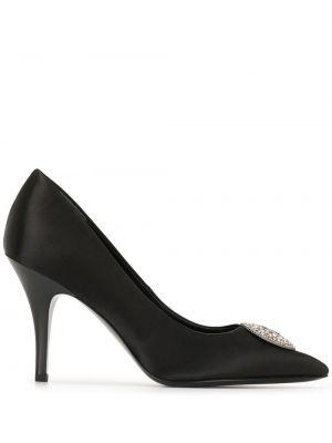 Черные кожаные туфли-лодочки на каблуке Tory Burch