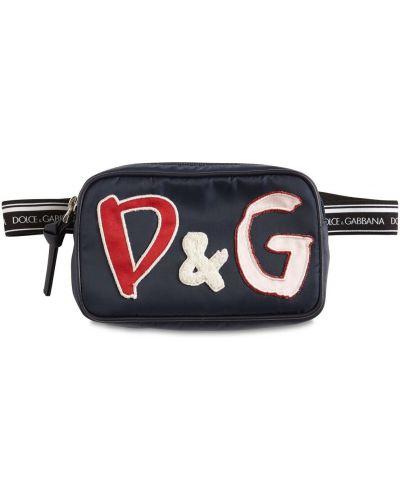 Нейлоновая сумка с поясом с заплатками Dolce & Gabbana