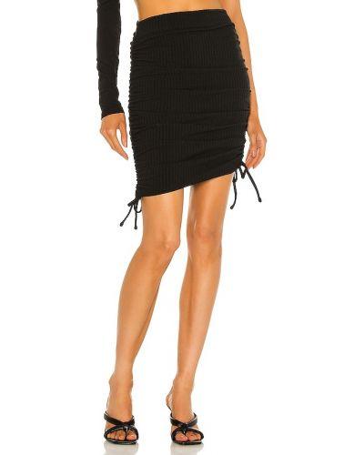 Трикотажная черная юбка мини с оборками Lovers + Friends
