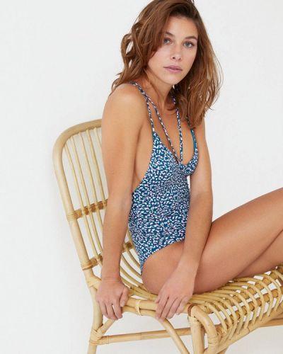 Слитный купальник синий Women'secret