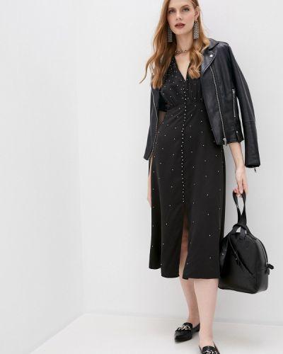Повседневное черное повседневное платье The Kooples