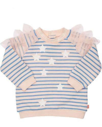Хлопковый свитшот - голубой Billieblush