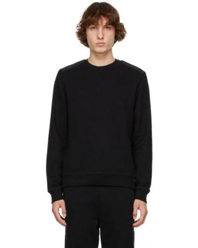 Czarna bluza długa z długimi rękawami pikowana Belstaff
