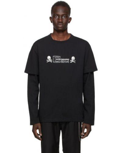 Черная футболка с длинными рукавами с воротником Mastermind Japan
