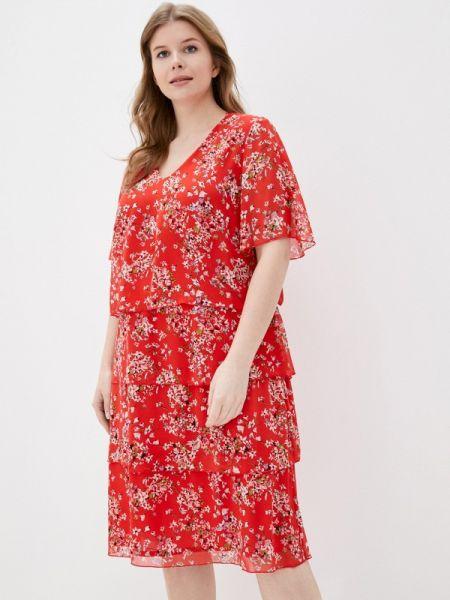 Повседневное платье красный весеннее Samoon By Gerry Weber