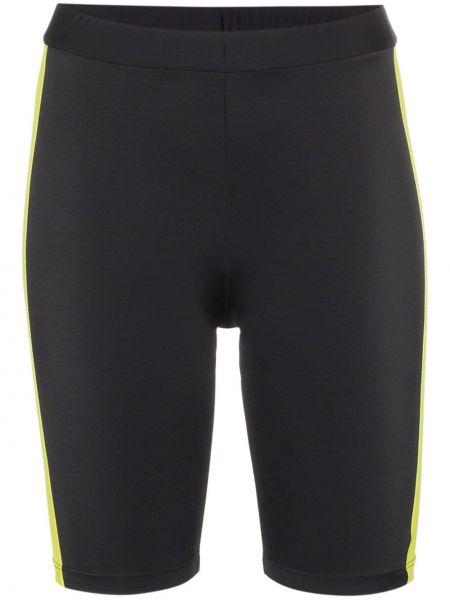 Облегающие черные спортивные шорты Fantabody