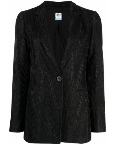 Однобортный черный удлиненный пиджак на пуговицах Missoni