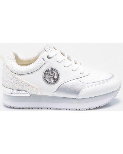Кроссовки на платформе текстильные белый Guess Jeans