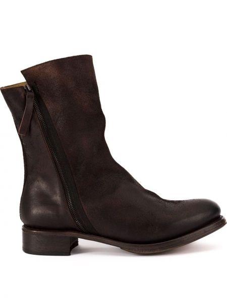 Кожаные коричневые кожаные ботинки Cherevichkiotvichki