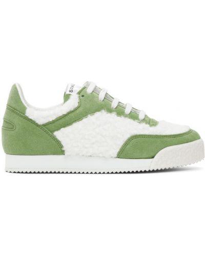 Zielone sneakersy sznurowane koronkowe Comme Des Garcons Shirt