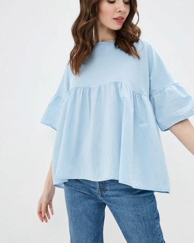 Блузка - голубая Emi