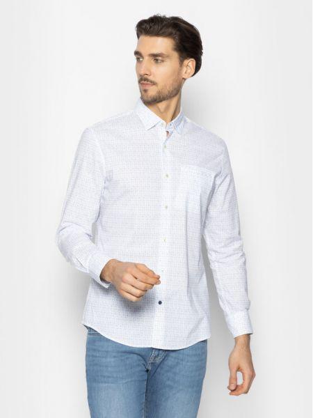 Biała biała koszula Pierre Cardin