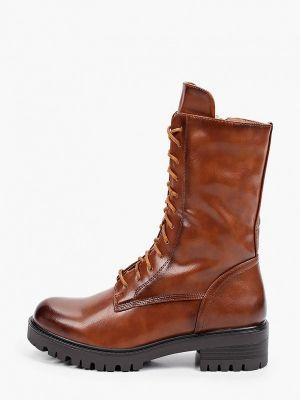 Коричневые высокие ботинки Marquiiz