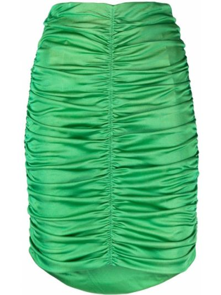 Зеленая шелковая с завышенной талией юбка мини Isabel Marant
