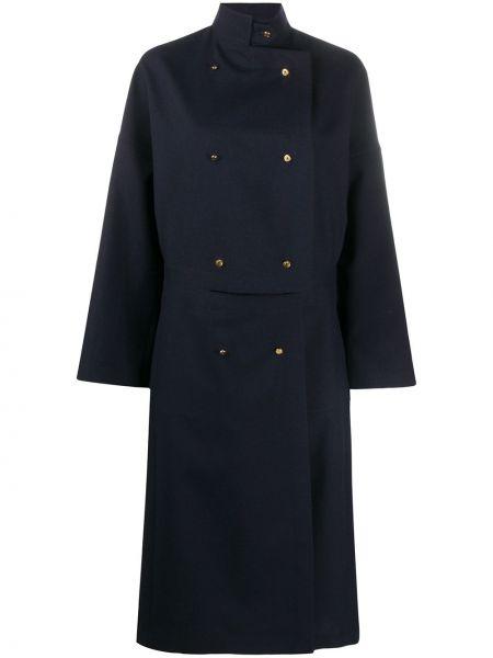 Długi płaszcz wełniany z kołnierzem Loewe