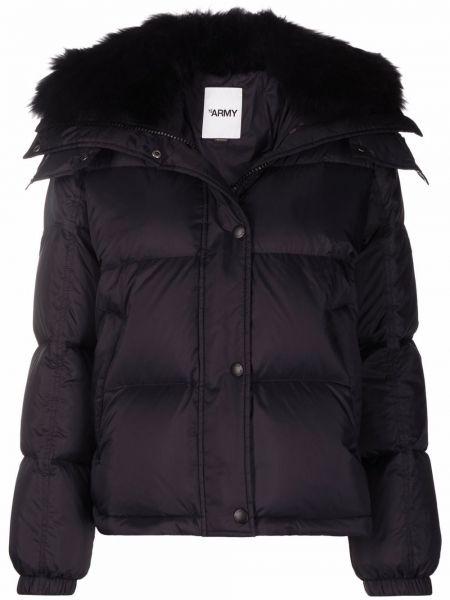 Куртка с капюшоном - черная Yves Salomon
