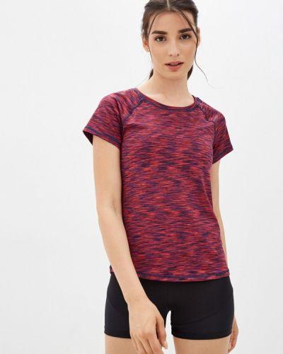 Спортивная бордовая футболка Emdi