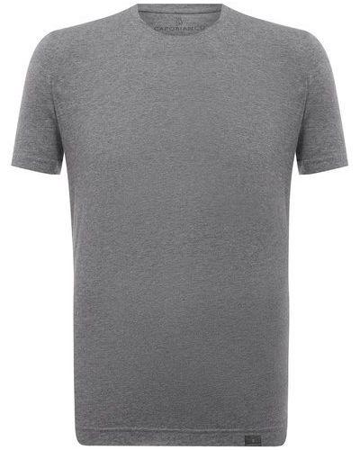 Серая хлопковая футболка Capobianco