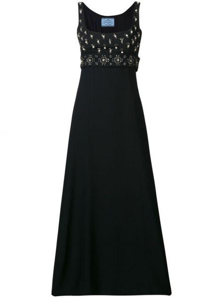 Платье с поясом с бисером винтажная Prada Pre-owned
