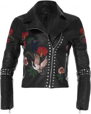 Кожаная куртка с вышивкой Bonprix