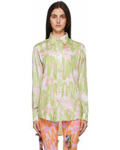 Satynowa koszula - beżowa Collina Strada