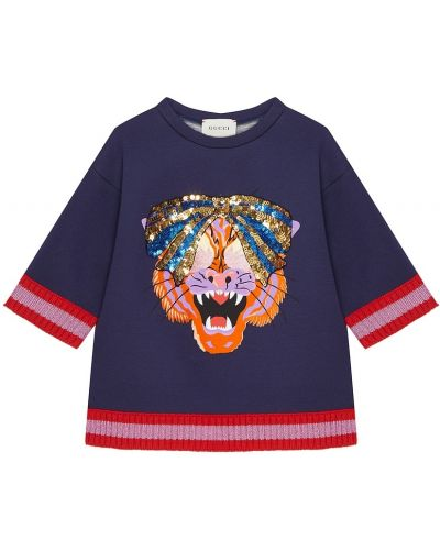 Свитшот с декоративной отделкой Gucci Kids
